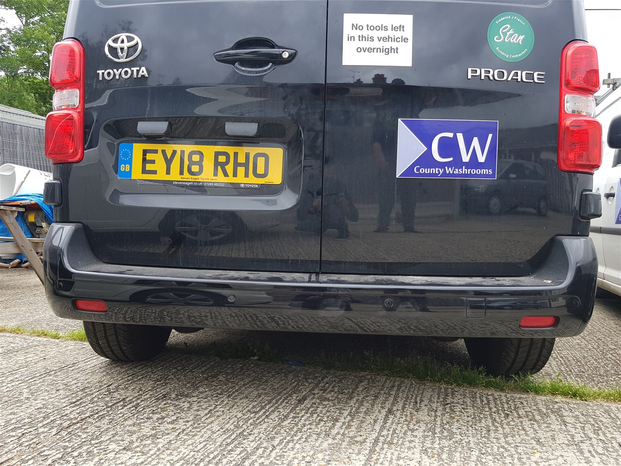 Toyota Proace rear parking sensors