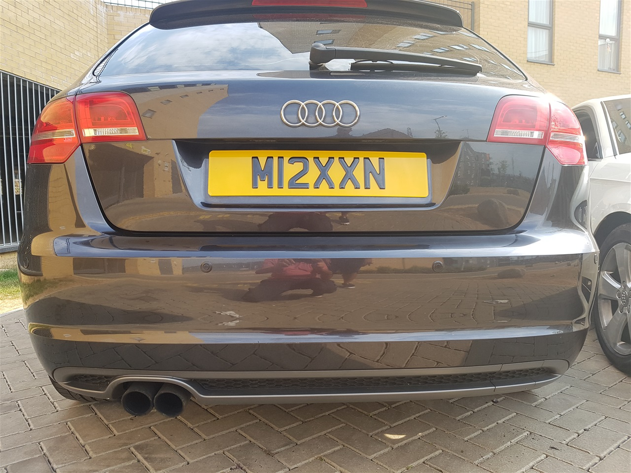 Audi A3 rear colour coded parking sensors