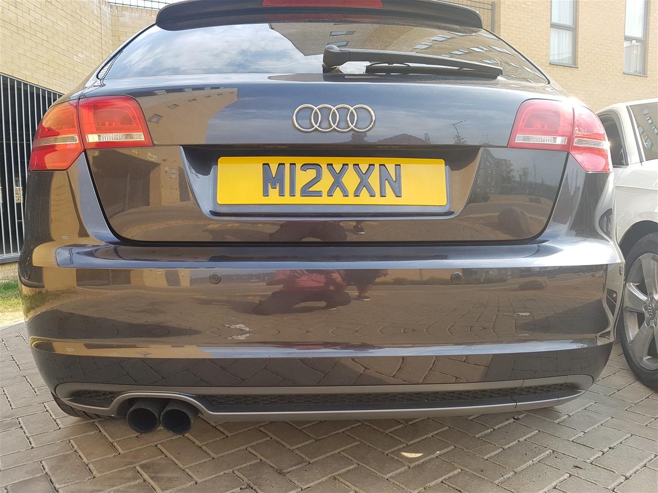 Audi A3 rear colour coded parking sensors