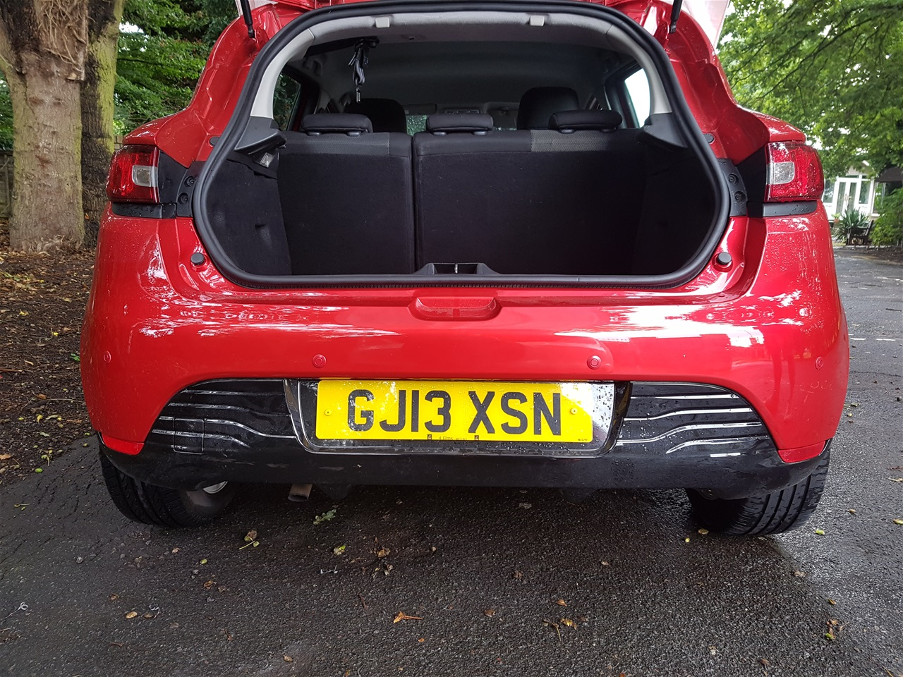 Renault Clio rear colour coded parking sensors