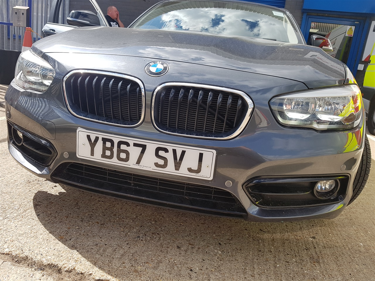 BMW 1 series front colour coded parking sensors