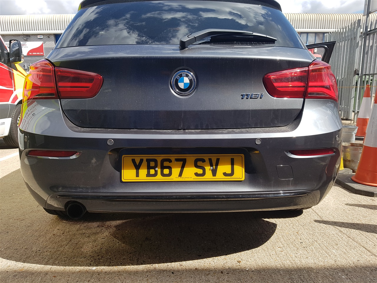 BMW 1 series rear colour coded parking sensors