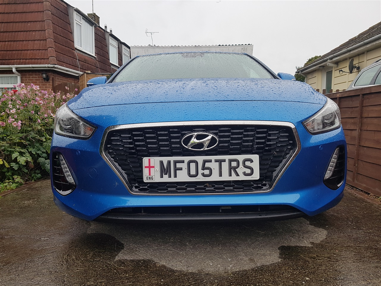 Hyundai i30 front colour coded parking sensors