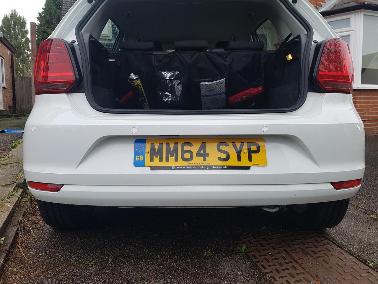 Volkswagen Polo rear parking sensors
