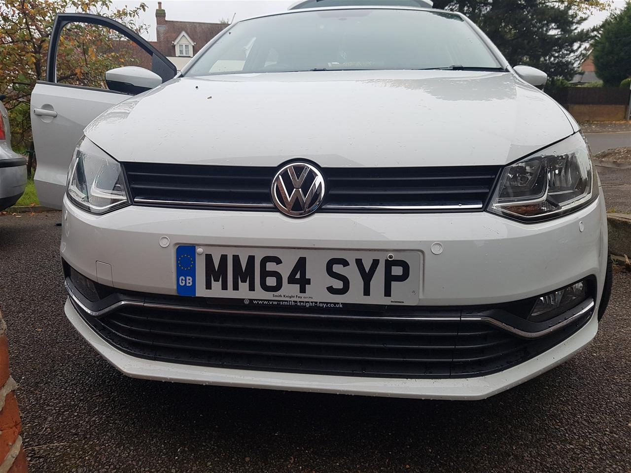 Volkswagen Polo front parking sensors