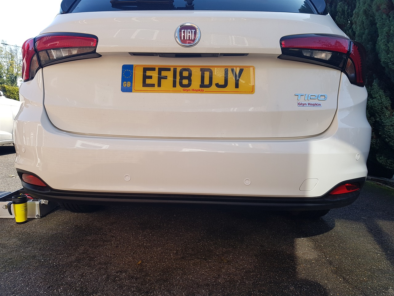 Fiat Tepo rear colour coded parking sensors