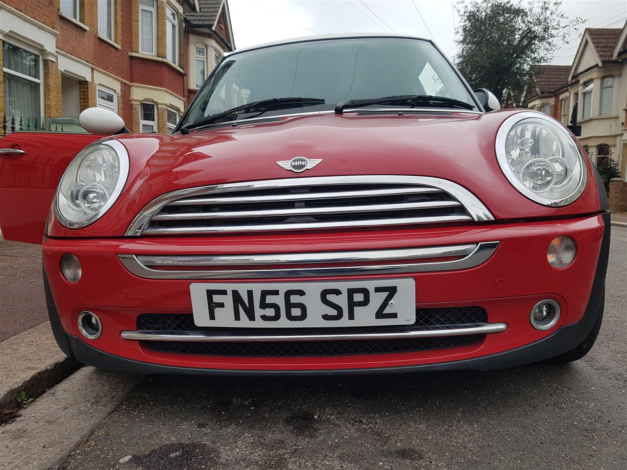 Mini Cooper front colour coded parking sensors