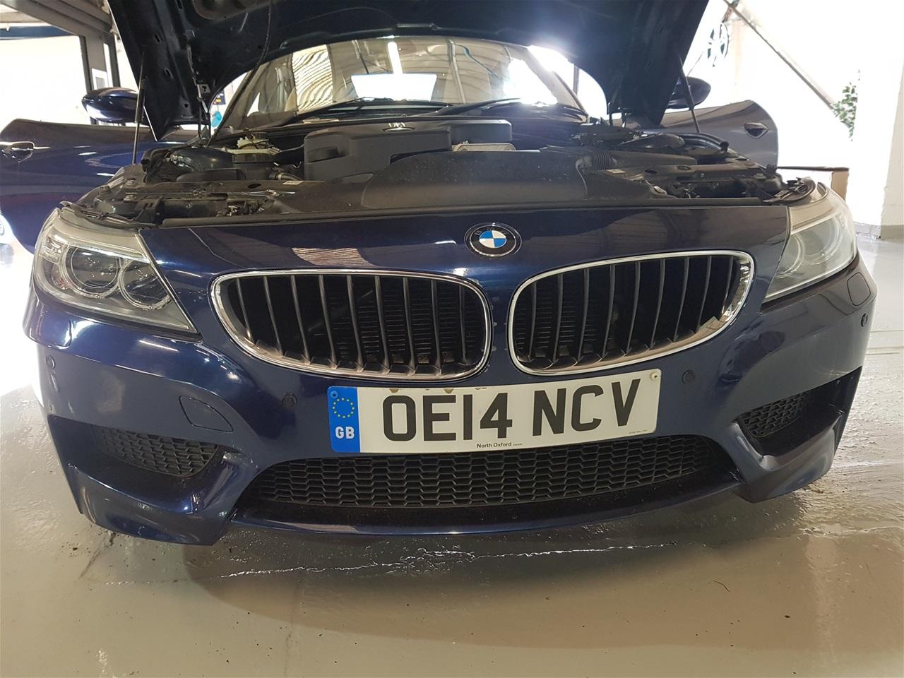 BMW Z4 front colour coded parking sensors