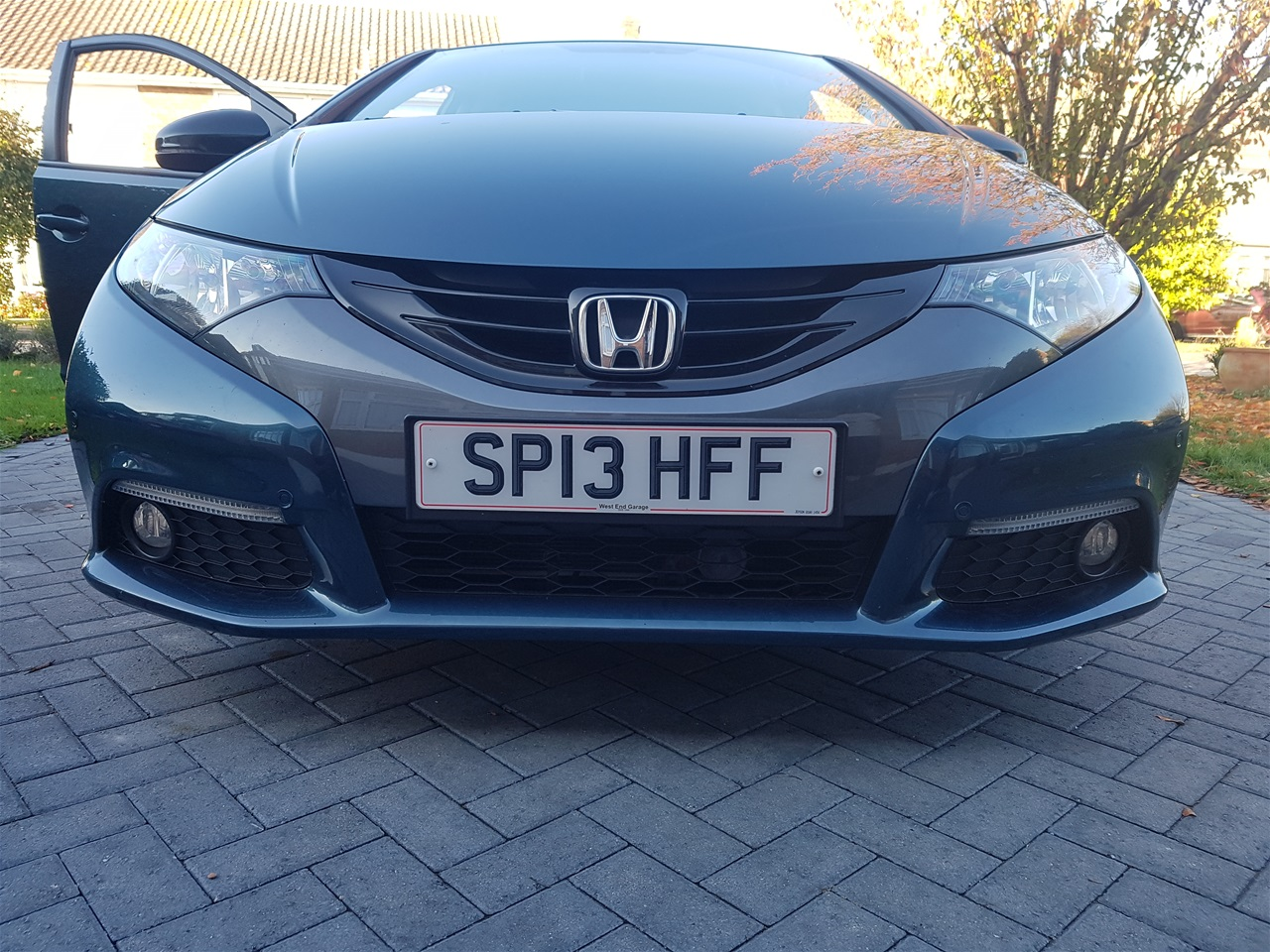 Honda Civic front colour coded parking sensors