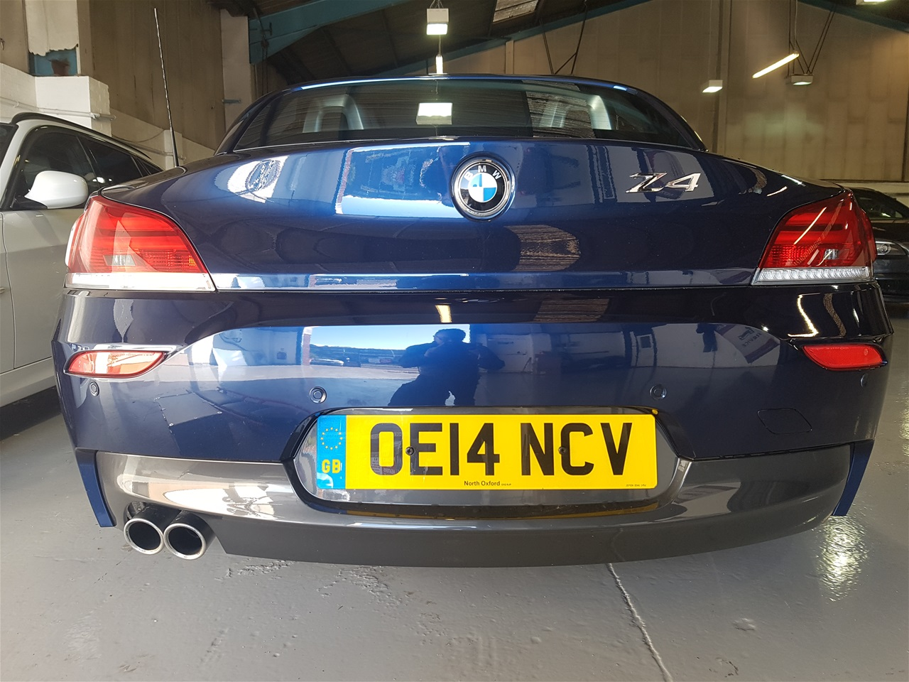 BMW Z4 rear colour coded parking sensors