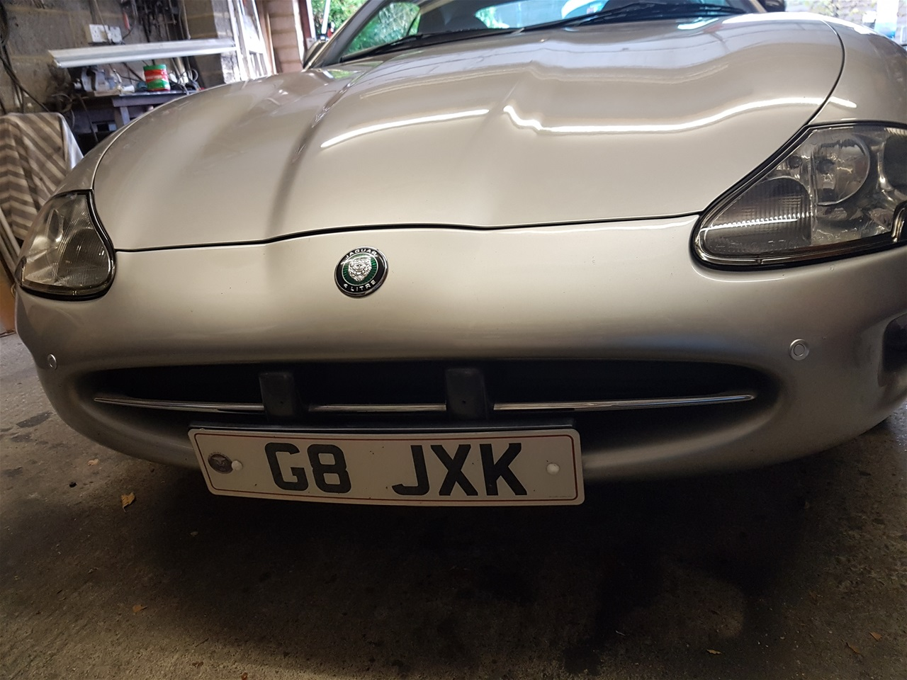 Jaguar XK8 front colour coded parking sensors