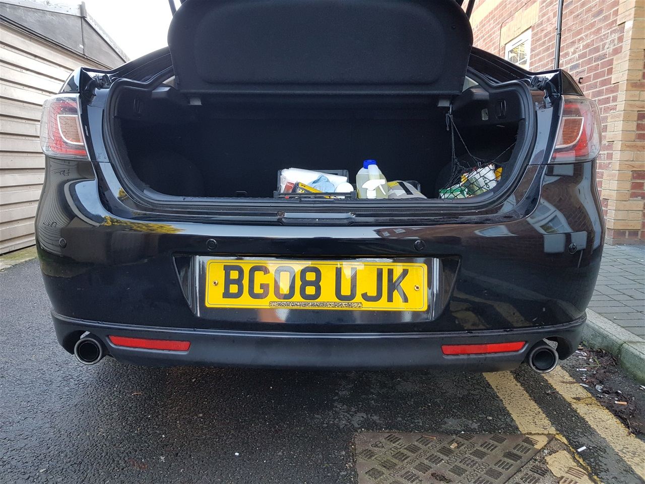Mazda 6 rear colour coded parking sensors