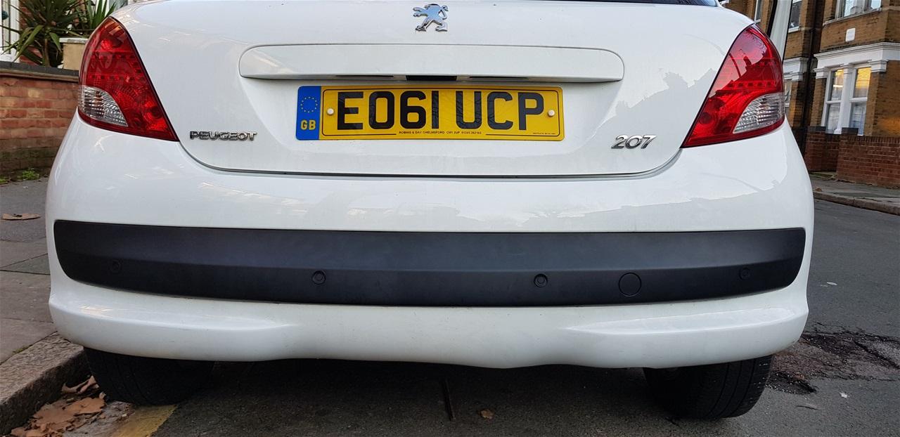 Peugeot 206 rear parking sensors
